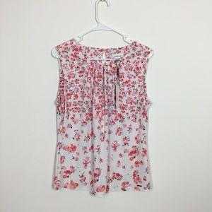 Woman's floral print Calvin Klein shirt size L
